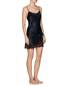 Aphrodite Lace Trimmed Silk Half Slip Skirt by L Frank By Liseanne Frankfurt