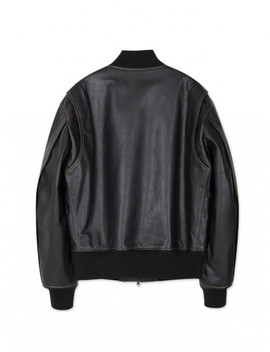 [Unisex] Andersson Leather Bomber Jacket Awa155 U by Andersson Bell
