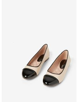 Nude And Black 'paris' Pumps by Dorothy Perkins