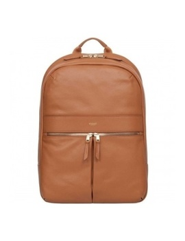 """Beaux 14"""" Leather Backpack (Caramel) by Knomo"""