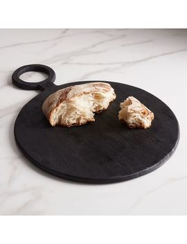 Blackened Wood Serving Board by West Elm