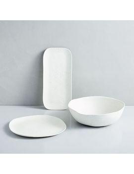 Melamine Stone Serveware by West Elm