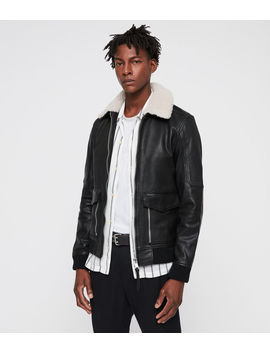 Bardell Leather Aviator Jacket by Allsaints