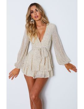Golden Hour Playsuit Beige Speckle by White Fox