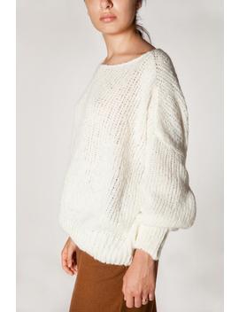 American Vintage Boolder Pull Sweater   Pearl by Garmentory