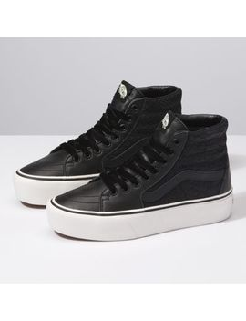 Leather Sk8 Hi Platform 2.0 by Vans