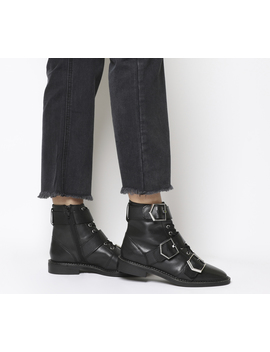 Armory Buckle Lace Up Boots by Office