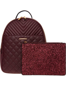 Red Quilted Backpack by Aldo