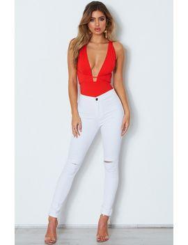 Pixie Multi Way Bodysuit Red by White Fox