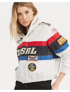 Canvas Racing Jacket by Ralph Lauren