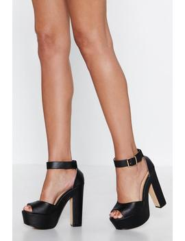 The Winner Takes It Tall Platform Heel by Nasty Gal