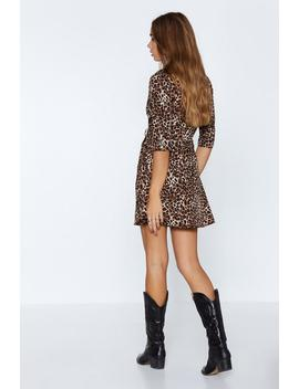 Spots Of Fun Leopard Dress by Nasty Gal