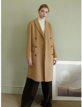 Handmade Double Long Coat   Camel by Le