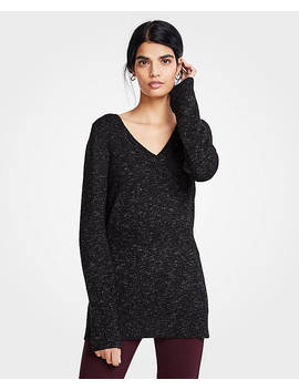 petite-ribbed-v-neck-sweater by ann-taylor