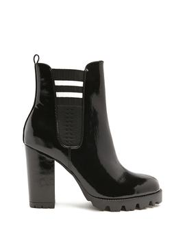 Varsity Striped Chelsea Boots by Forever 21