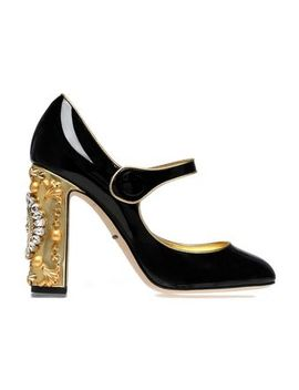 Embellished Patent Leather Mary Jane Pumps by Dolce & Gabbana