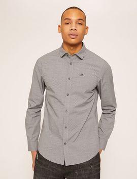 Slim Fit Stretch Dot Shirt by Armani Exchange