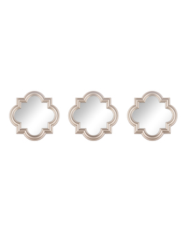 3 Pc. Mirror Set – Silver Quatrefoil3 Pc. Mirror Set – Silver Quatrefoil by Kmart