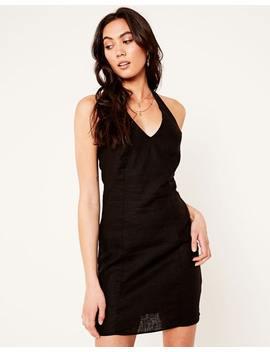 Linen Blend Halter Dress by Glassons