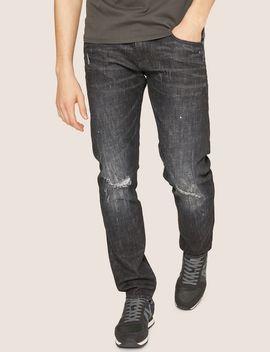J13 Slim Fit Black Destroyed Jean by Armani Exchange