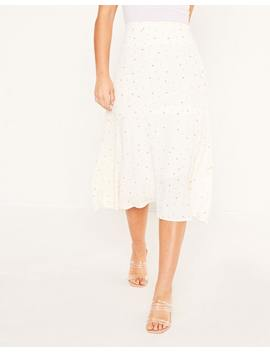 Spotted Midi Skirt by Glassons