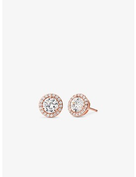 Precious Metal Plated Sterling Silver Pavé Studs by Michael Kors