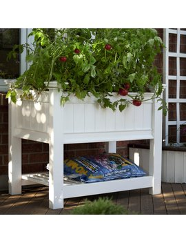 New England Arbors Cambridge Vinyl Raised Planter Box by New England Arbors