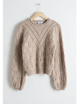 Wool Blend Puff Sleeve Sweater by & Other Stories