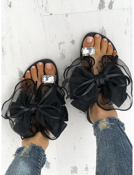 Women's Cute Bowtie Decorate Non Slip Sandals by Ivrose