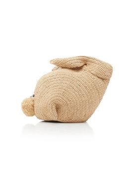 Bunny Mini Raffia And Leather Bag by Loewe