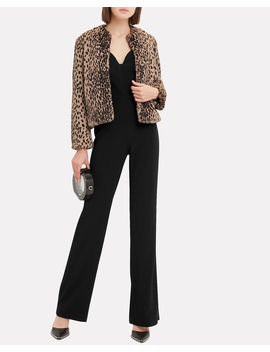 Leopard Faux Fur Chubbie Coat by Michelle Mason