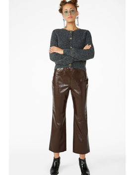 Faux Patent Leather Trousers by Monki