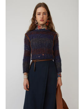 Cropped Sweater Blue/Multi by Acne Studios