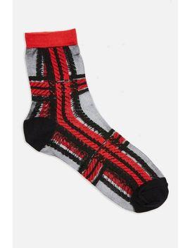 Sheer Tartan Socks by Topshop