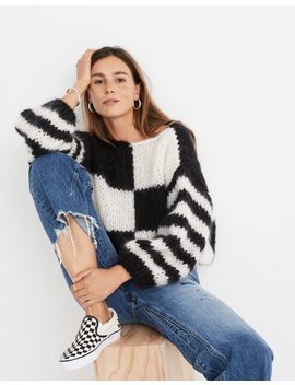 Madewell X Maiami Checker Big Sweater by Madewell
