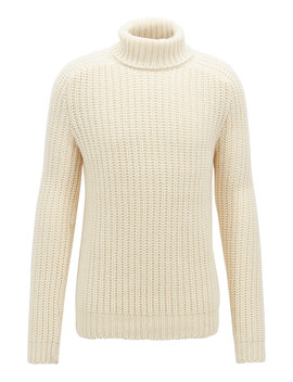 Fashion Show Capsule Turtleneck Sweater In Cashmere by Boss