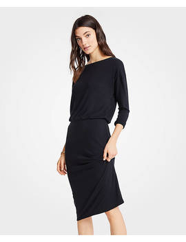 Shirred Sheath Dress by Ann Taylor