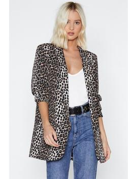 Leopard Put Your Claws Away Leopard Blazer by Nasty Gal