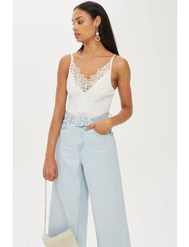Petite Lace Trim Body by Topshop