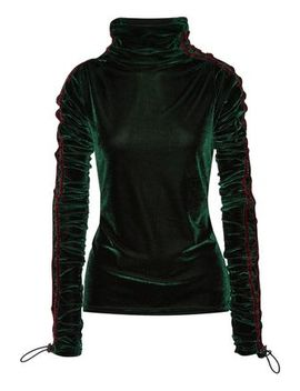 Ruched Velvet Turtleneck Top by Y/Project