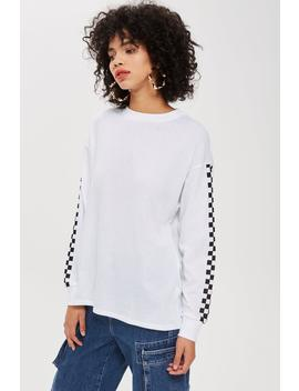 Petite Checkerboard Tunic T Shirt by Topshop