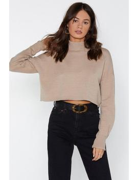 Falling Hard Cropped Sweater by Nasty Gal