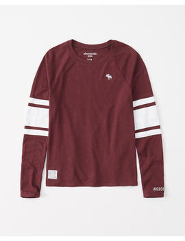 Varsity Long Sleeve Tee by Abercrombie & Fitch