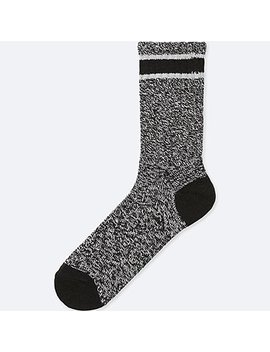 Men Heattech Heather Line Socks by Uniqlo