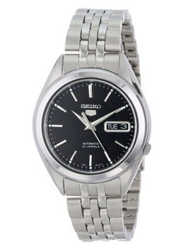 Seiko 5 Snkl23 Automatic Day Date Black Dial Stainless Steel Mens Watch Snkl23 K1 by Seiko