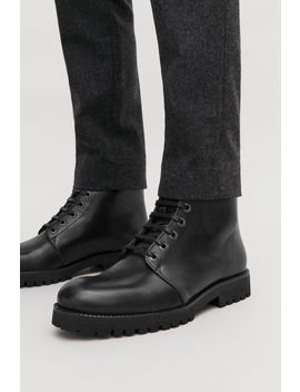 Lace Up Leather Boots by Cos