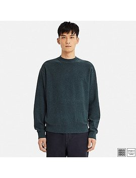 Men U Premium Lambswool Crewneck Long Sleeve Sweater by Uniqlo