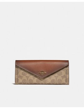 Soft Wallet In Colorblock Signature Canvas by Coach