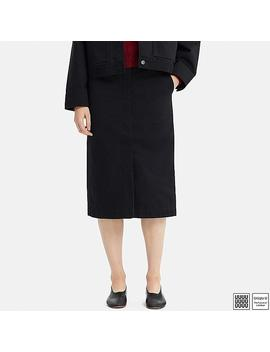 Women Uniqlo U Cotton Midi Skirt by Uniqlo