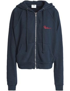 Embroidered French Cotton Terry Hoodie by Re/Done